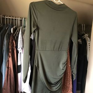 touch dolls Dresses - Touch Dolls Olive cross-over Spandex mini dress.